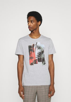 PHOTO PRINT - Print T-shirt - light stone grey melange
