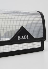 KARL LAGERFELD - DISCO SHOULDER BAG - Taška spříčným popruhem - silver - 6