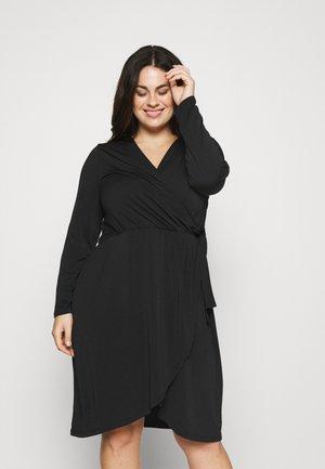 VINAYELI KNEE WRAP DRESS - Jersey dress - black