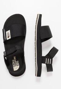 The North Face - W SKEENA SANDAL - Walking sandals - black/vintage white - 1