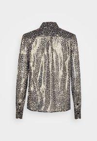 Victoria Beckham - CONTRAST TIE DETAIL  - Button-down blouse - black/gold - 7