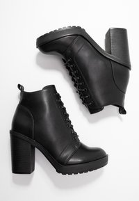ONLY SHOES - BOO WITH LACES   - Bottines à talons hauts - black - 3