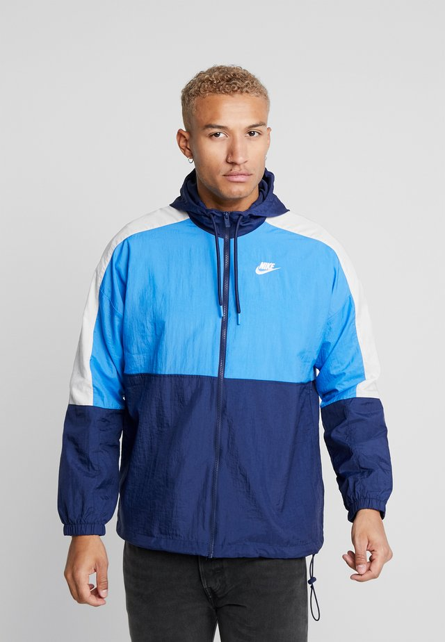 Training jacket - midnight navy/pacific blue/light bone/white