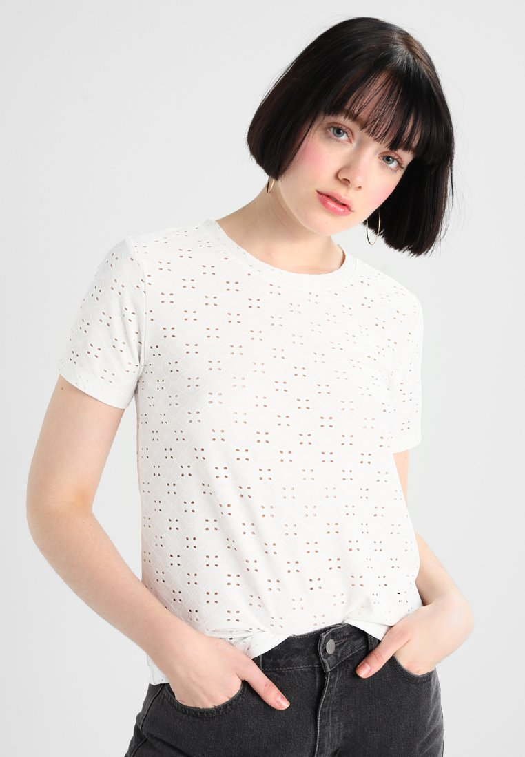 JDY - JDYCATHINKA - Print T-shirt - cloud dancer
