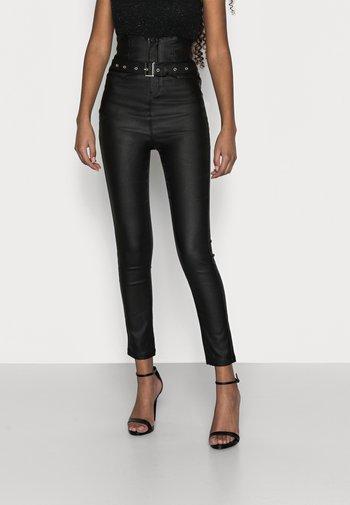 CORSET BELT VICE - Straight leg jeans - black