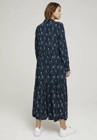 TOM TAILOR DENIM - Maxi dress - navy anchor print - 2