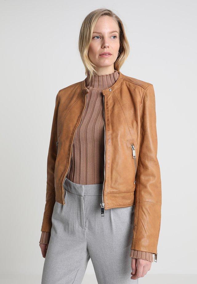 GRENADA - Leather jacket - cognac