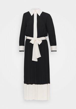 WOMEN DRESS - Shirt dress - nero/burro
