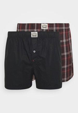 PREMIUM POSITIVE PLAID 2 PACK - Boxer shorts - red