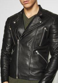 Serge Pariente - GLADIATOR - Giacca di pelle - black - 5