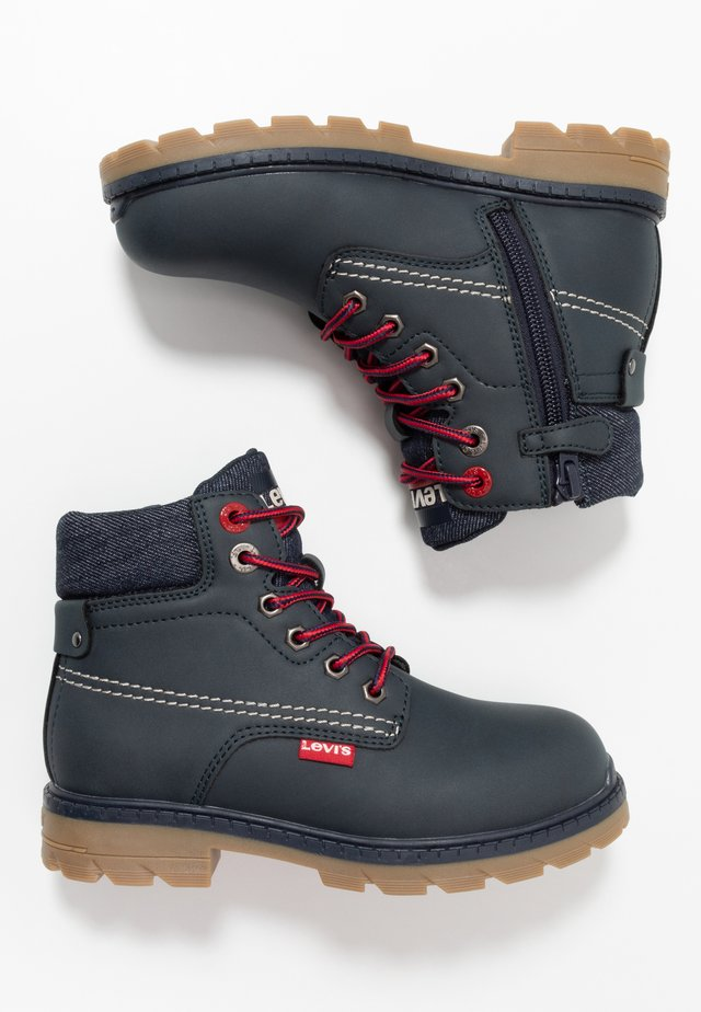 NEW FORREST MID - Bottines à lacets - navy