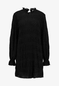 DOBBY SHIFT DRESS - Day dress - black