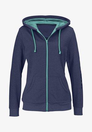 Zip-up hoodie - blau-meliert