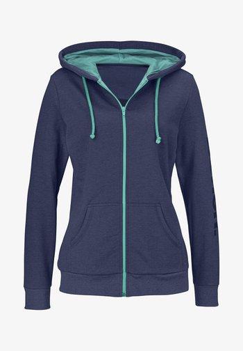 Zip-up sweatshirt - blau-meliert
