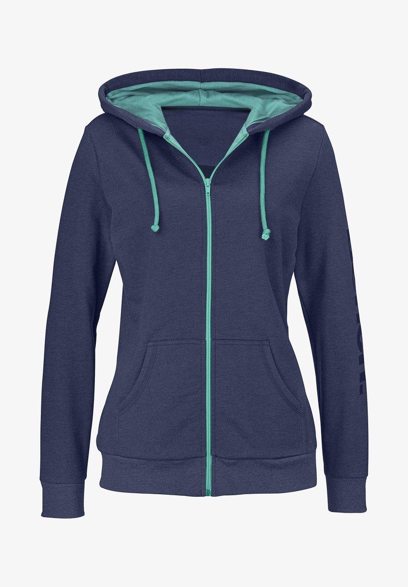 Bench - Zip-up hoodie - blau-meliert