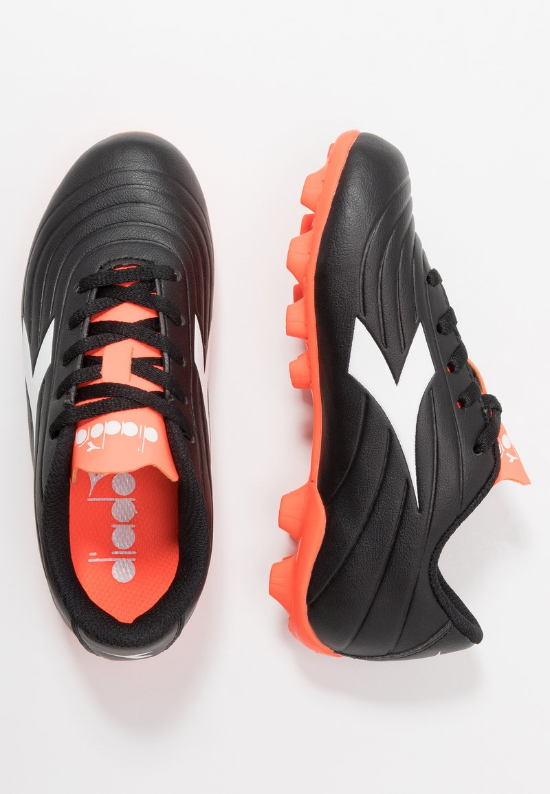 Diadora - PICHICHI 2 MD - Moulded stud football boots - black/white/red fluo
