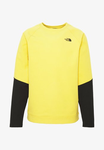 MENS TEKNO RIDGE CREW - Felpa in pile - bamboo yellow/black