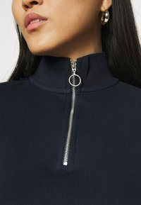 Marc O'Polo DENIM - LONGSLEEVE WITH ZIPPER SPECIAL COLLAR - Long sleeved top - scandinavian blue - 3