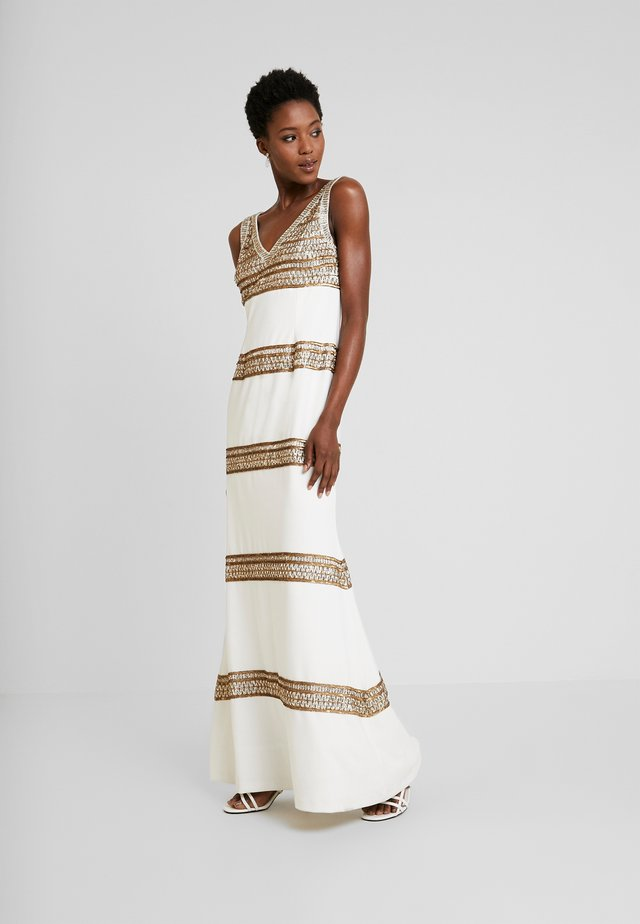 BEADED LONG DRESS - Galajurk - ivory/gold