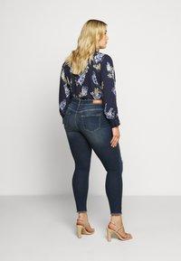 ONLY Carmakoma - CARWILLY - Jeans Skinny Fit - dark blue denim - 2