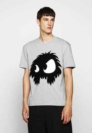 DROPPED SHOULDER - T-shirt imprimé - mercury melange