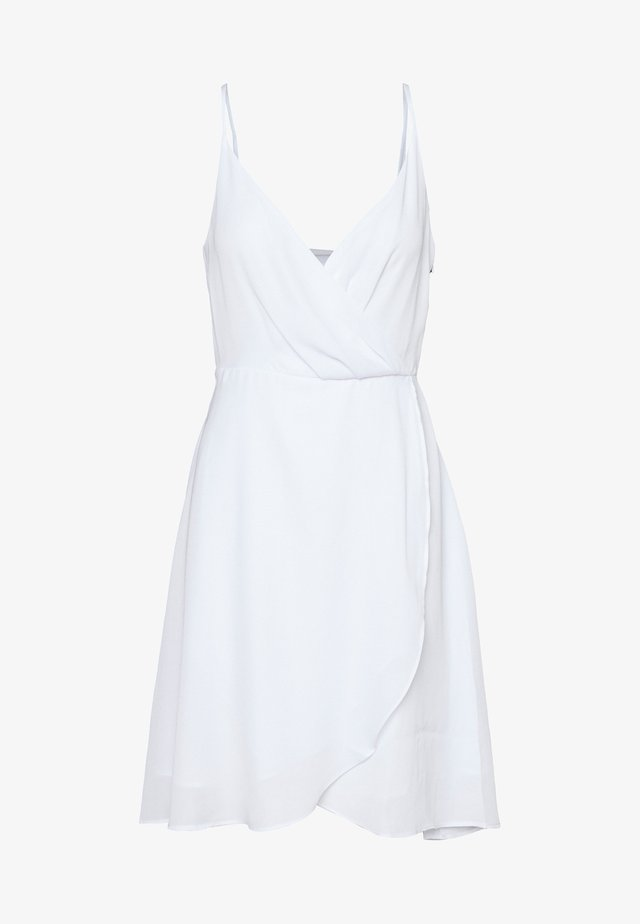OVERLAP FLOWY DRESS - Kjole - white