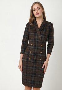 Madam-T - KONTATA - Shift dress - schwarz, senf - 0