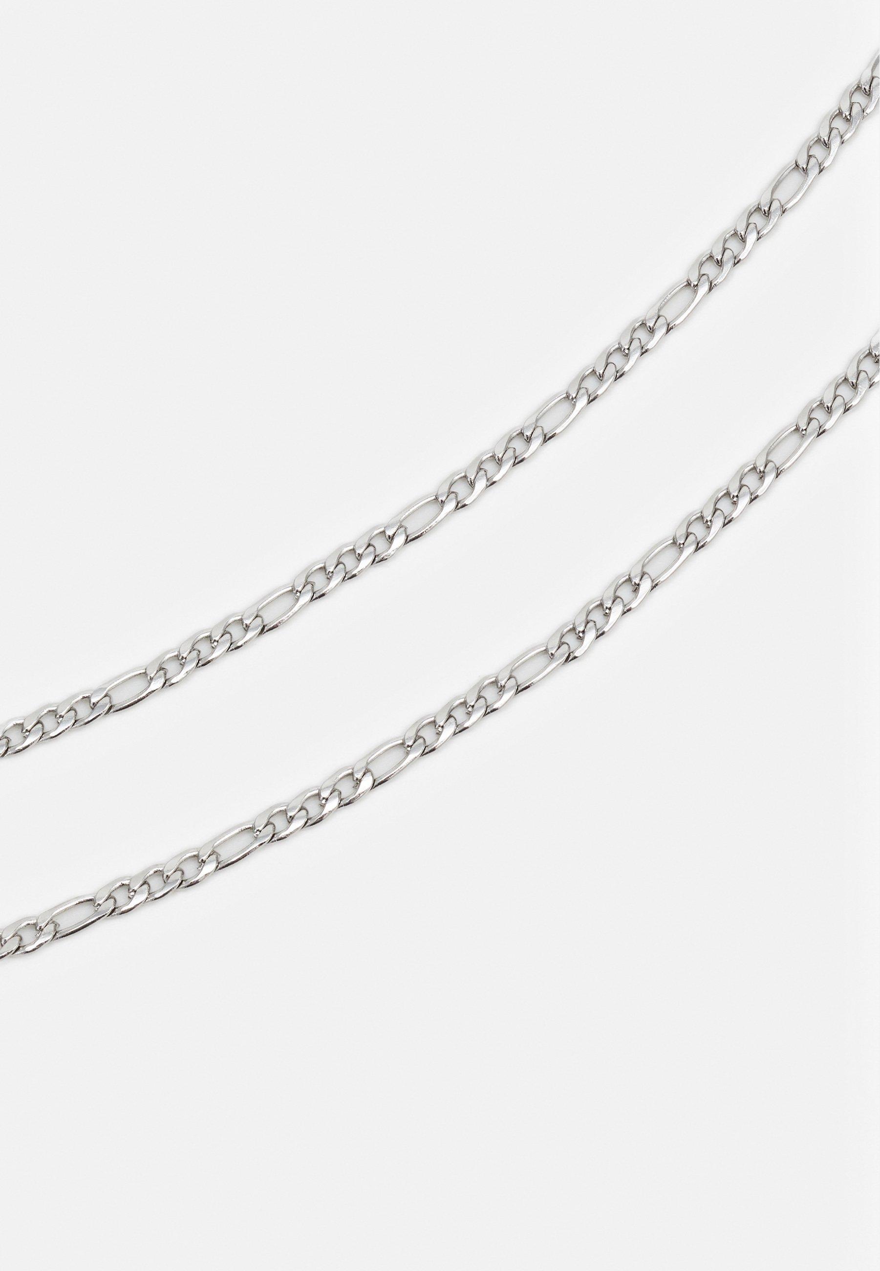 Nialaya FIGARO CHAIN NECKLACE - Smykke - silver-coloured/sølv k9nKmgbm53CnVDJ