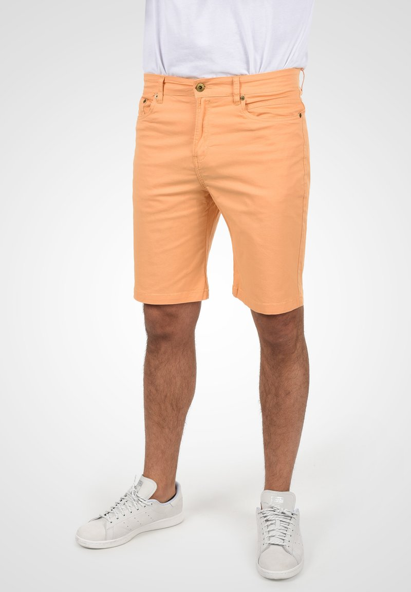 Solid - Denim shorts - orange chi
