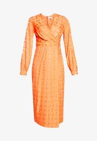 Closet - PLEATED WRAP DRESS - Day dress - orange - 5