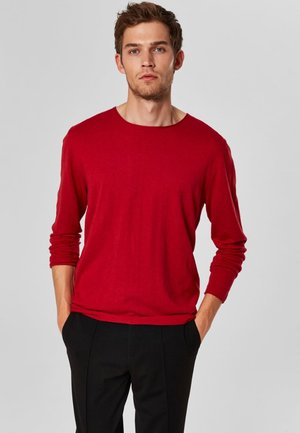SLHDOME CREW NECK - Jumper - red