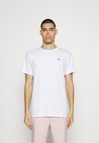 Hollister Co. - SOLID EXCLUSIVE 3 PACK - T-shirt basic - white/beige/olive - 3