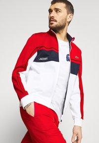 Lacoste Sport - TENNIS JACKET - Training jacket - ruby/white/navy blue/white - 3