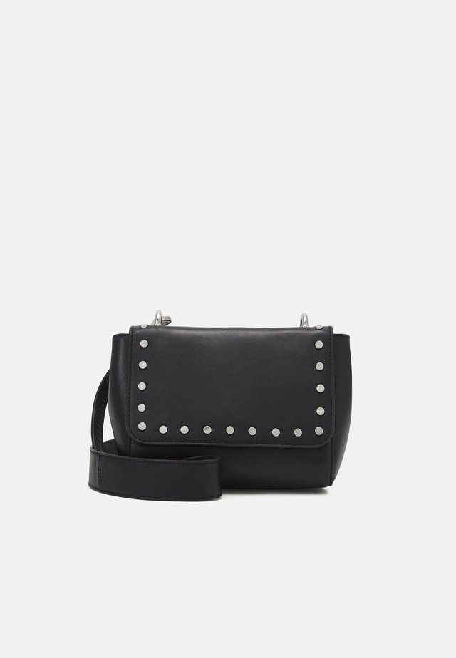 STUDDED AVA BAG - Sac bandoulière - black