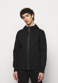 C.P. Company - HOODED OPEN - veste en sweat zippée - black - 0