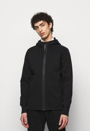 HOODED OPEN - veste en sweat zippée - black