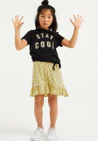 WE Fashion - PAILLETTENAPPLICATIE - T-shirt print - black - 0