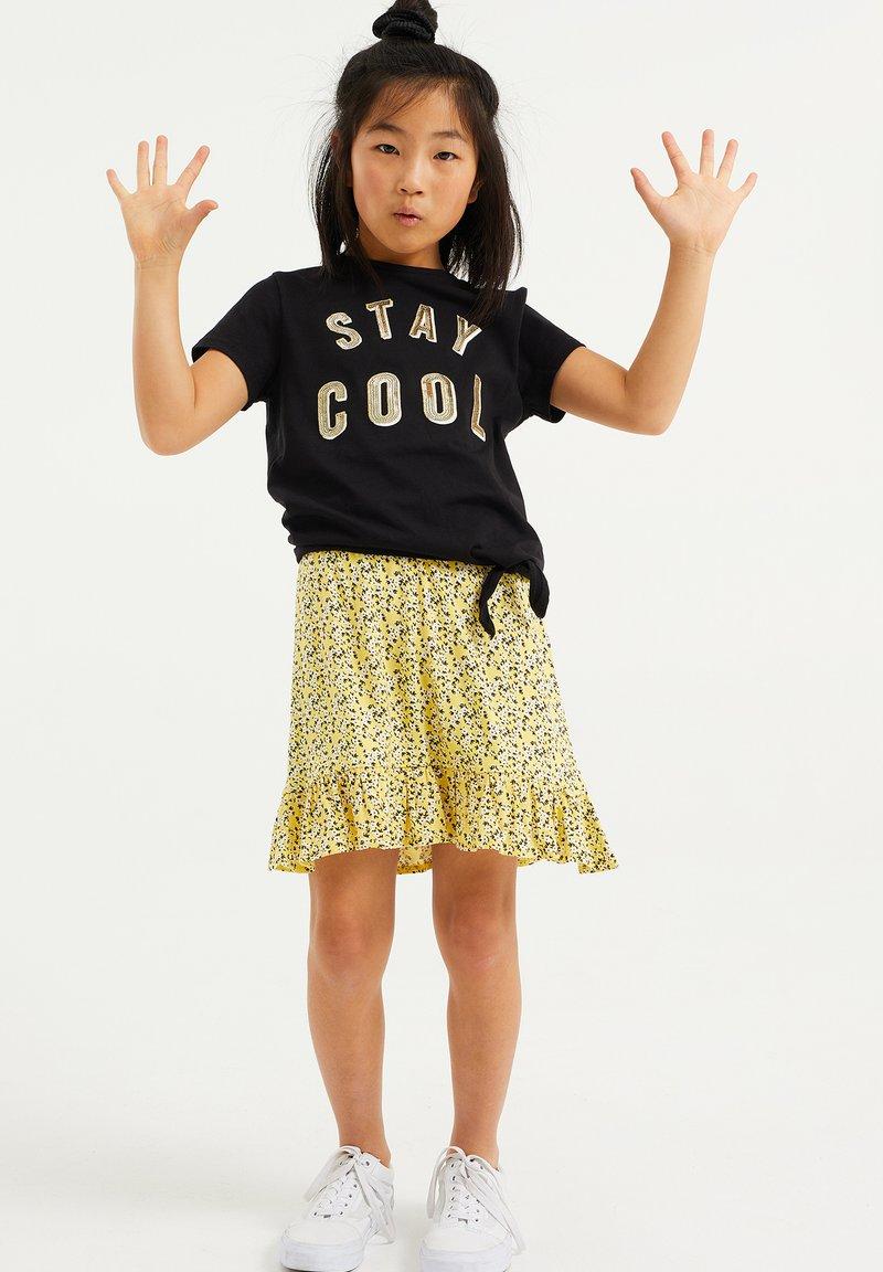 WE Fashion - PAILLETTENAPPLICATIE - T-shirt print - black