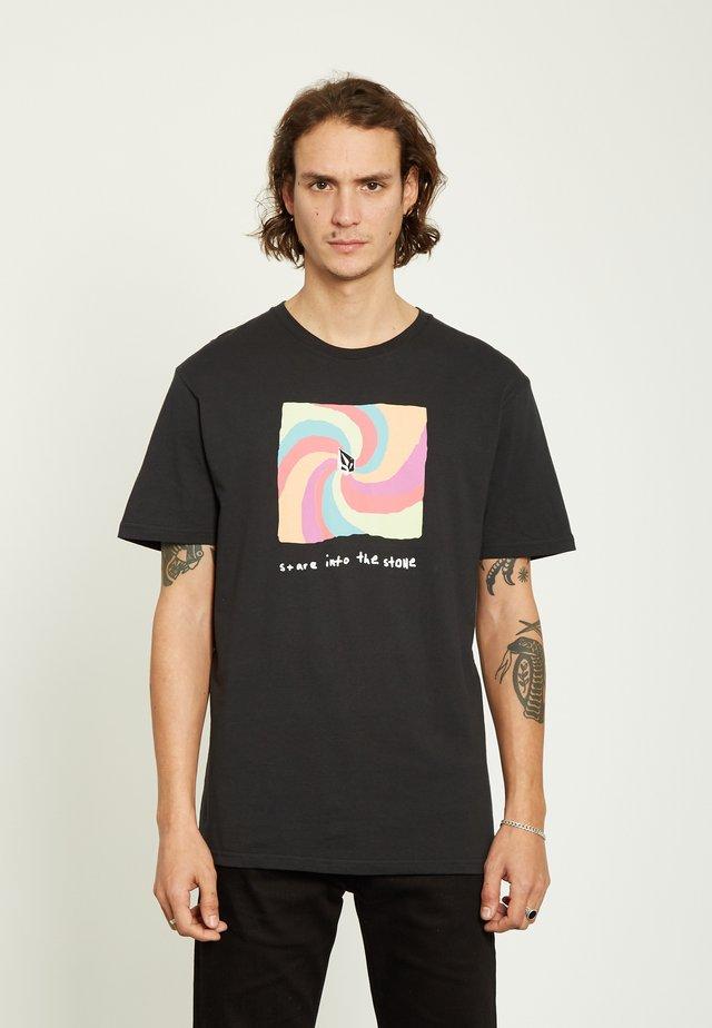 EARTH PEOPLE - Print T-shirt - black