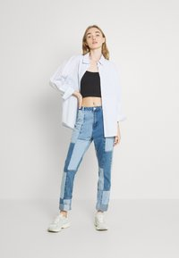 Missguided - PATCHWORK - Jeans straight leg - blue - 1