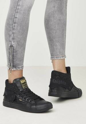 SNEAKER ROCO - High-top trainers - black/black leopard/black