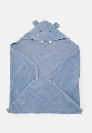 BATH HOODED TOWEL - Bath towel - blue