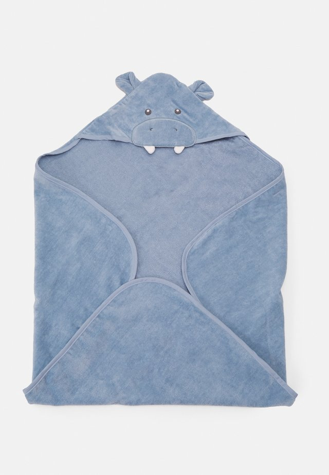 BATH HOODED TOWEL - Badmantel - blue