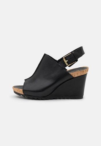 FLEX STITCH - Platform sandals - black
