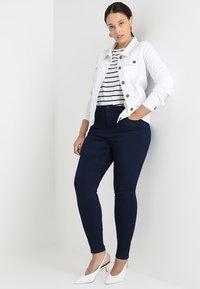 Zizzi - LONG AMY - Slim fit jeans - dark blue - 1
