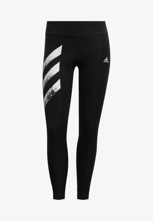 OWN THE RUN -STRIPES FAST LEGGINGS - Legginsy - black