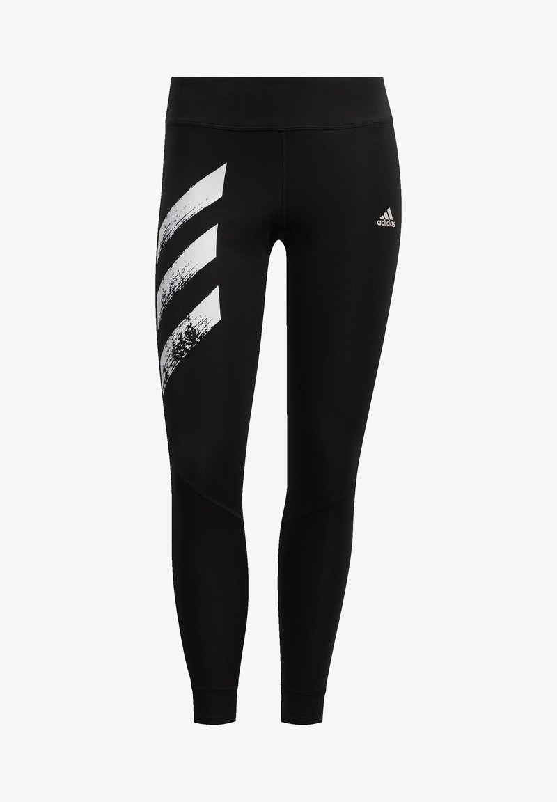 adidas Performance - OWN THE RUN -STRIPES FAST LEGGINGS - Tights - black