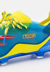 adidas Performance - X GHOSTED.1 FG - Moulded stud football boots - blue/vivid red/yellow - 5