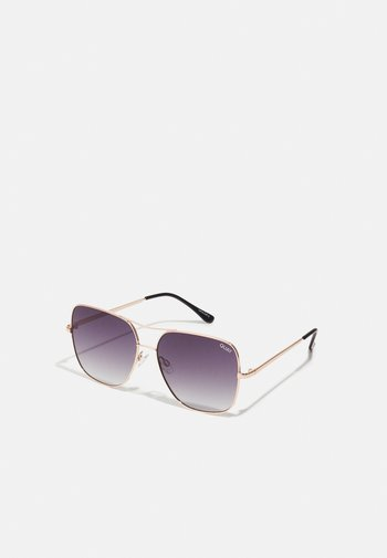 STOP AND STARE - Sunglasses - gold/smoke