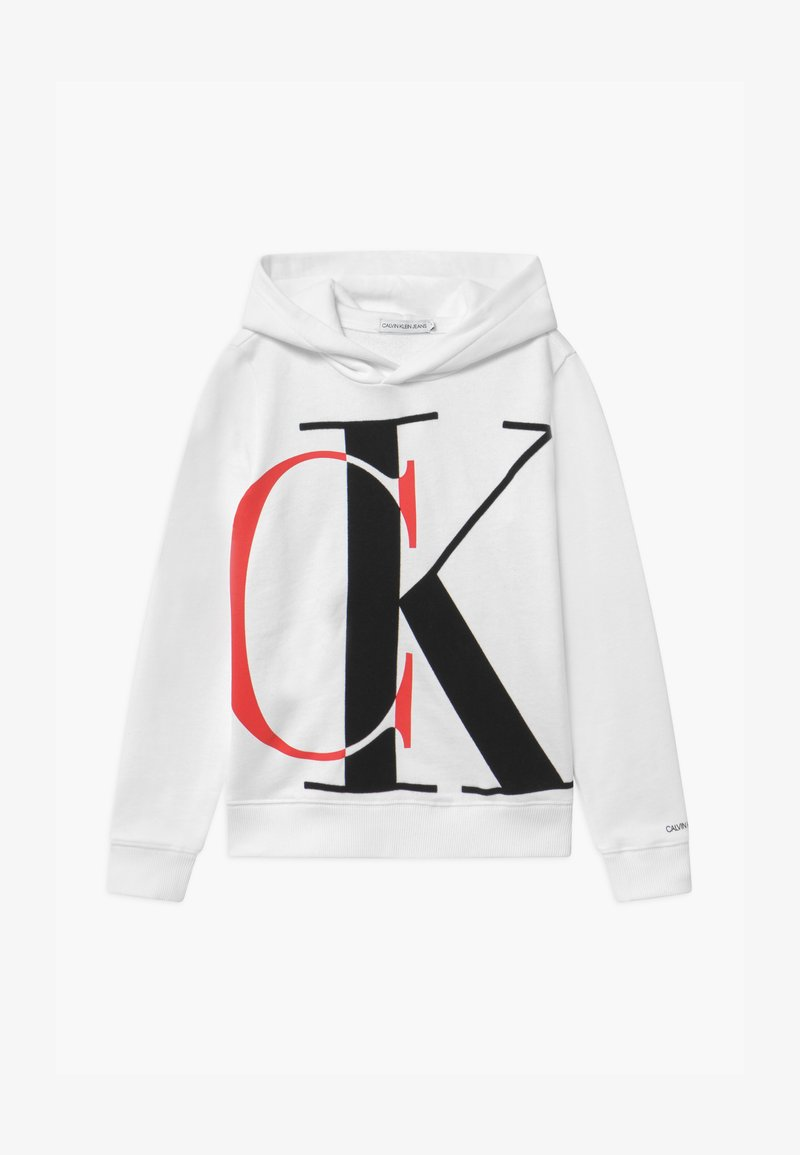 Calvin Klein Jeans - EXPLODED MONOGRAM HOODIE UNISEX - Mikina s kapucí - white